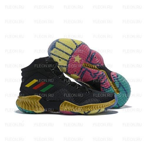 Мужские кроссовки Adidas Pro Bounce 2018 (черный-разноцветный)