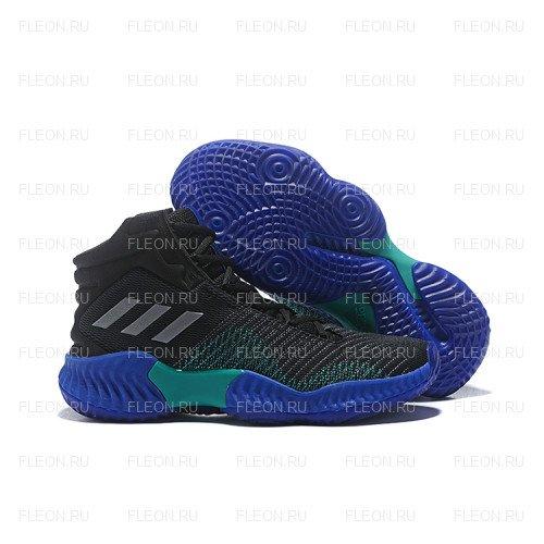 Мужские кроссовки Adidas Pro Bounce 2018 (черный-синий)