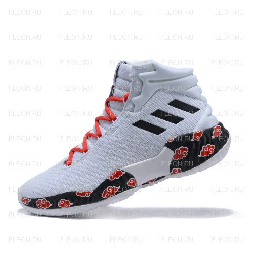 Мужские кроссовки Adidas Pro Bounce 2018 (белый-красный-черный)