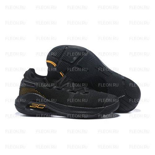 Мужские кроссовки Under Armour Curry 6 (черный-желтый)