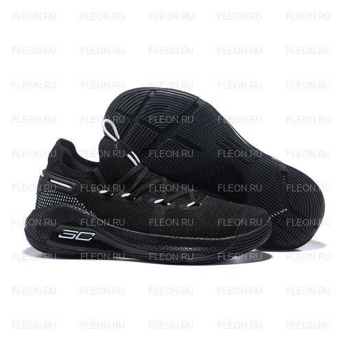 Мужские кроссовки Under Armour Curry 6 (черный-белый)