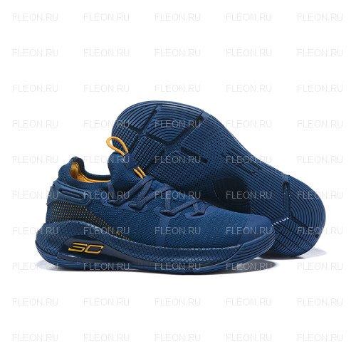 Мужские кроссовки Under Armour Curry 6 (синий-желтый)