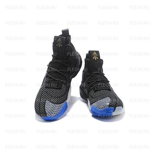 Мужские кроссовки Adidas Crazy BYW LVL X Pharrell Williams (черный-белый)